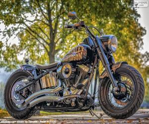 Puzle Bela Harley-Davidson