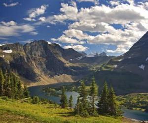 Puzle Belas paisagens de montanha