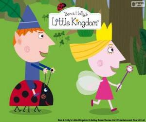 Puzle Ben, Holly e Gaston, três grandes amigos do pequeno reino