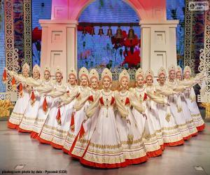 Puzle Beriozka, dança russa clássica