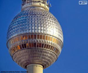 Puzle Berliner Fernsehturm, Alemanha