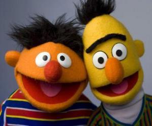 Puzle Beto e Ênio, dois grandes amigos