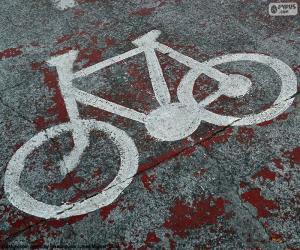 Puzle Bicicleta pintada, sinal
