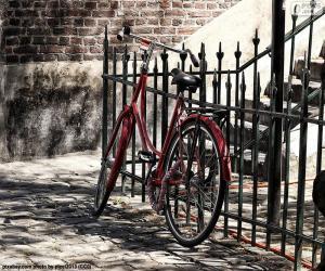 Puzle Bicicleta vermelha