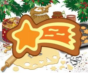 Puzle Biscoito como uma estrela de Natal