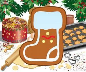 Puzle Biscoito da Bota do Papai Noel