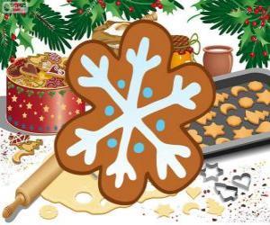 Puzle Biscoito de floco de neve