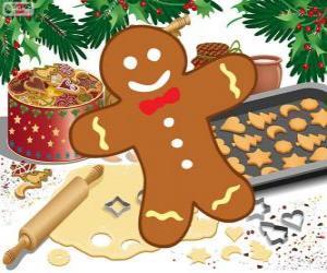 Puzle Biscoito de gengibre decorado em forma de homem
