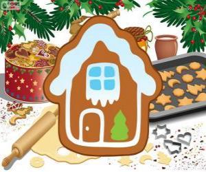 Puzle Biscoito de Natal em forma de casa
