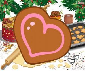 Puzle Biscoito em forma de coração