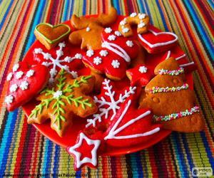 Puzle Biscoitos de Natal em casa