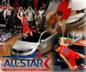 Puzle Blake Griffin é o novo rei do 2011 NBA Slam Dunk
