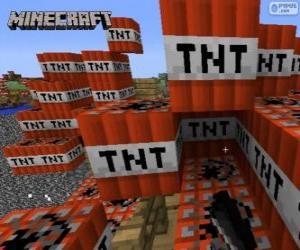 Puzle Bloco de explosivo TNT de Minecraft