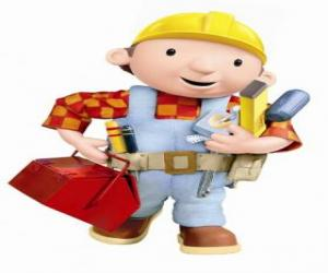 Puzle Bob o Construtor com suas ferramentas
