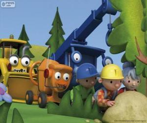 Puzle Bob o Construtor e os seus amigos