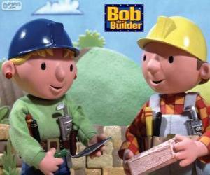 Puzle Bob o Construtor e sua parceira Wendy na organização do trabalho do dia