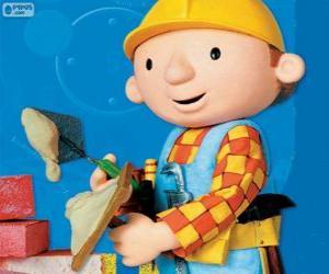 Puzle Bob o Construtor trabalhando