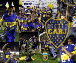 Puzle Boca Juniors, campeão do torneio Apertura 2011, Argentina
