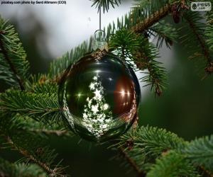 Puzle Bola de árvore de Natal