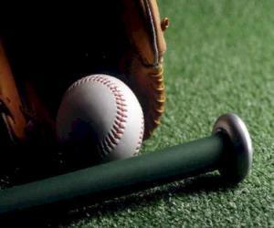Puzle Bola de beisebol, luva e taco