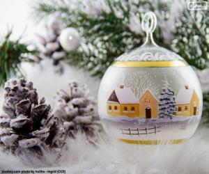 Puzle Bola de inverno vila