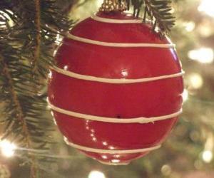 Puzle Bola de Natal com listra