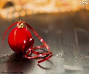 Puzle Bola de Natal e fita