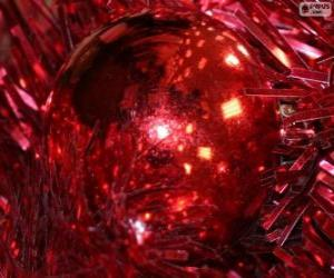 Puzle Bola de Natal vermelho