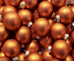 Puzle Bola de ouro de Natal