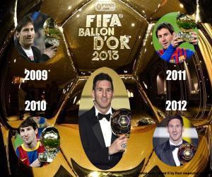 Puzle Bola de ouro FIFA 2015