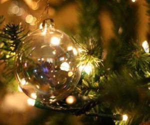 Puzle bola de vidro de Natal