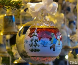 Puzle Bola Natal de vidro