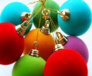 Puzle Bolas de Natal amarrado