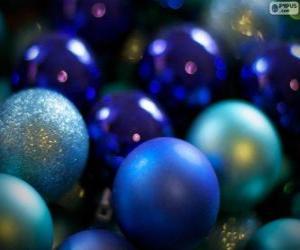 Puzle Bolas de Natal azuis