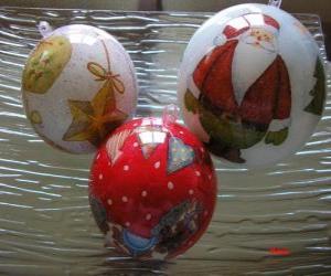 Puzle bolas de Natal decorada
