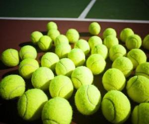 Puzle Bolas de tênis na quadra