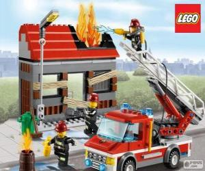 Puzle Bombeiros de Lego