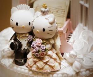 Puzle Bonecas casamento Olá Kitty e Dear Daniel