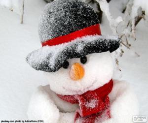 Puzle Boneco de neve com cachecol