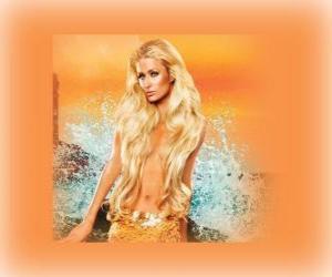 Puzle Bonita sereia de longos cabelos