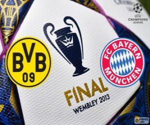 Puzle Borussia Dormunt vs Bayern de Munique. Final da UEFA Champions League 2012-2013. Estádio de Wembley, Londres, Grã-Bretanha