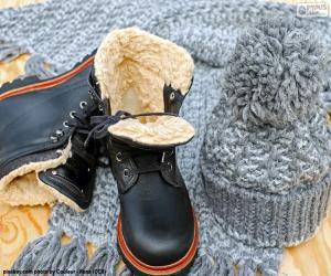 Puzle Botas de inverno preto
