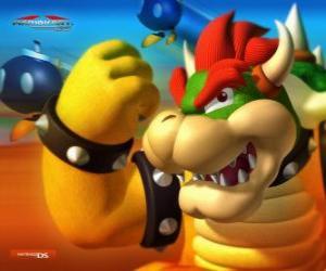 Puzle Bowser ou Rei Koopa, o principal inimigo nos jogos do Mario