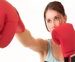 Puzle Boxe ou pugilismo - Rosto de uma boxeadora