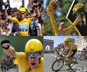 Puzle Bradley Wiggins  vencedor do Tour de France 2012