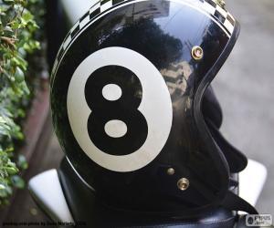 Puzle Branco de número oito