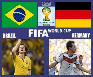 Puzle Brasil - Alemanha, semi-finais, Brasil 2014