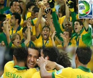 Puzle Brasil, campeão da Copa das Confederações FIFA de 2013