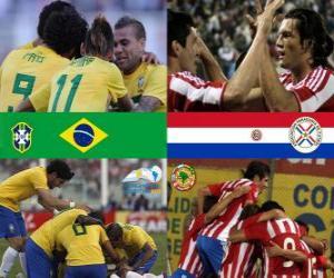 Puzle Brasil - Paraguai, quartas, Argentina 2011