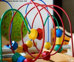 Puzle Brinquedo de madeira e metal